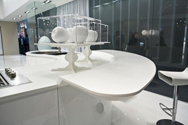 Weisse Küche Minimalistisch Weiße Küche Mit Edelstahl Kitchen Eine ...