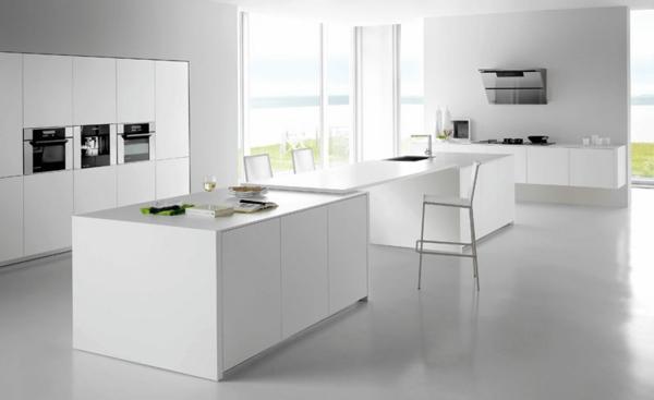 minimalistische weiss farbe küche design ausstattung