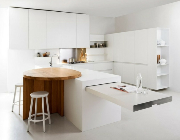 minimalistische weisse küche essecke elmar studio
