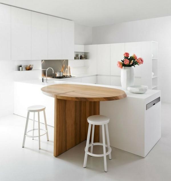 minimalistische weisse küche essecke holz elmar studio