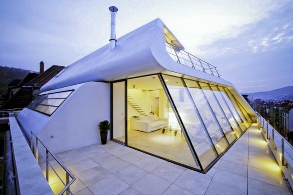 """Polyrattan Gartenmobel Kinder : Modernes architektonisches Design – Penthaus """"I40"""" in Stuttgart"""