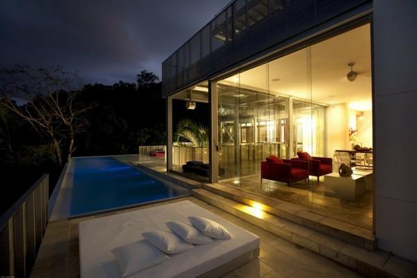 modern residenz spektakulärsten gegenwärtigen pools