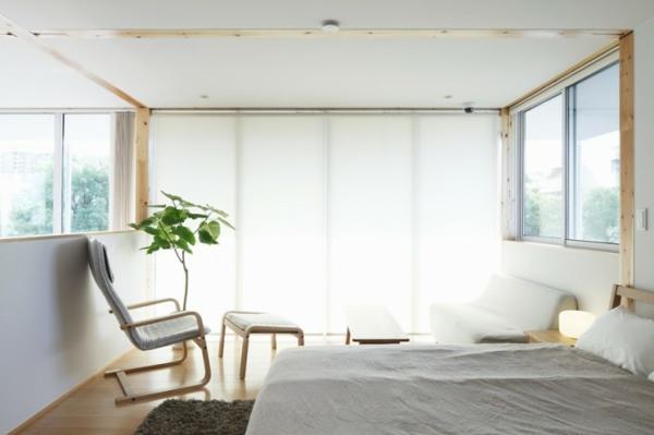LED Beleuchtung an der Wand mit Fernseher im Sclafbereich