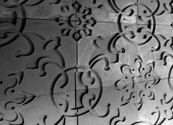 moderne betonfliesen blumen formen fuguren idee design