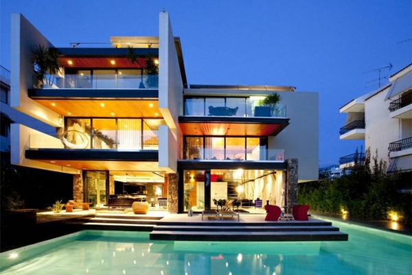 Moderne häuser mit pool  Moderne Häuser mit integrierten Swimmingpools
