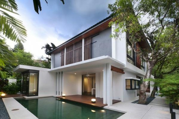 Moderne häuser mit terrasse  Moderne Häuser mit integrierten Swimmingpools