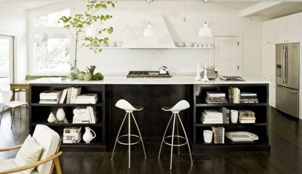 moderne küche dunkles holz kücheninsel designs