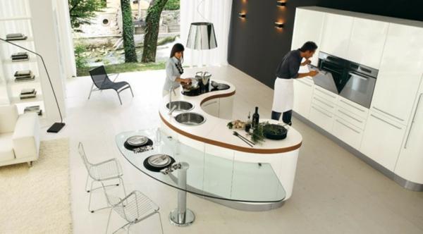 moderne kücheninsel designs idee essbereich