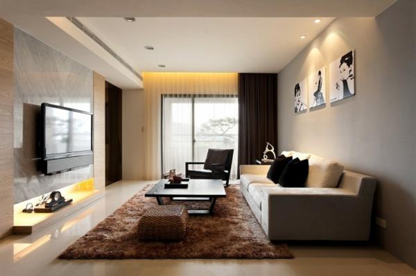 chestha   modernes dekor wohnzimmer, Deko ideen