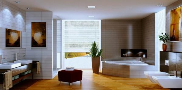 Innenausstattung badezimmer  Ideen - Innenausstattung vom Designer minimalistisches Aussehen
