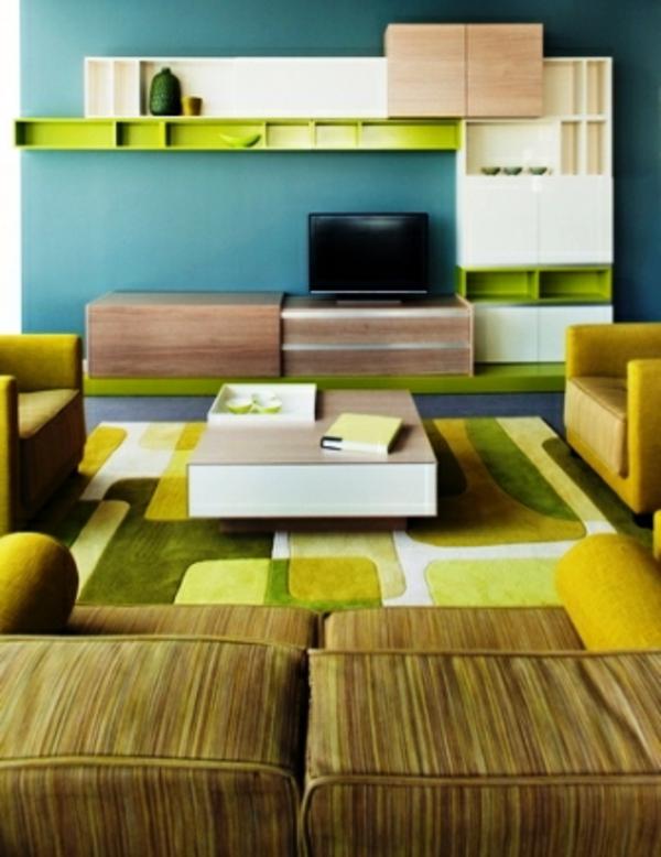 design : wohnzimmer grün blau ~ inspirierende bilder von ...
