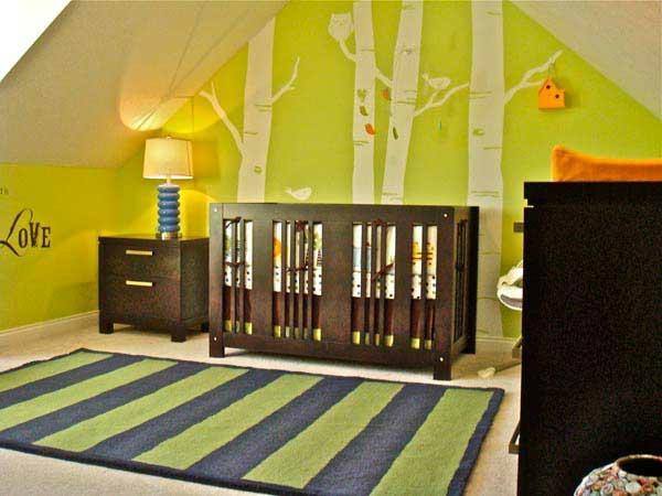 Verspielte Kinderzimmer 20 Coole Ideendie Ihr Babyzimmer ... Gestreifte Grne Wnde