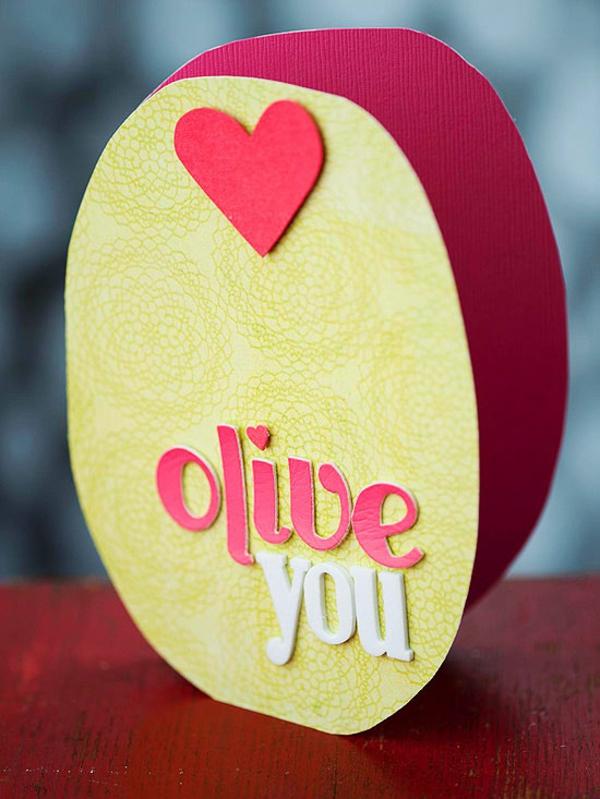valentinstag karte idee olive spiel