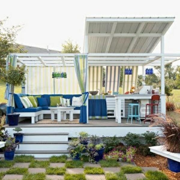28 Patio Ideen ? Lounge Möbel Für Einen Unkomplizierten Lebensstil ... 28 Ideen Fur Terrassengestaltung Dach