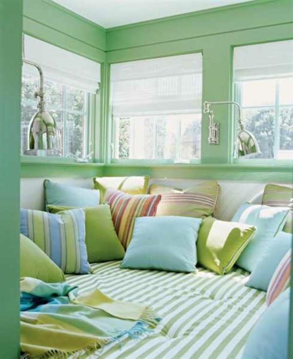 Blaue und Grüne Innendesings - originelle, farbenreiche ...