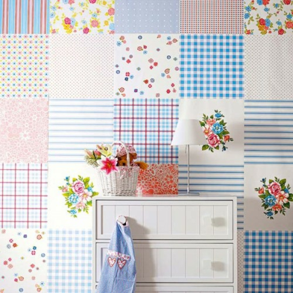 interessante patchwork wanddekoration
