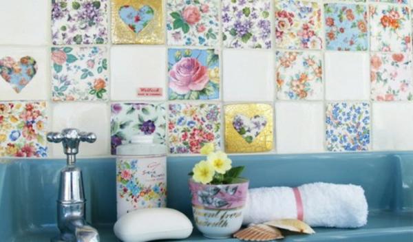 wanddekoration in patchwork stil in der wohnung. Black Bedroom Furniture Sets. Home Design Ideas