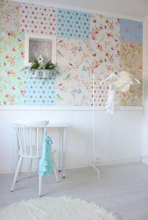 Patchwork Wanddekoration ideen