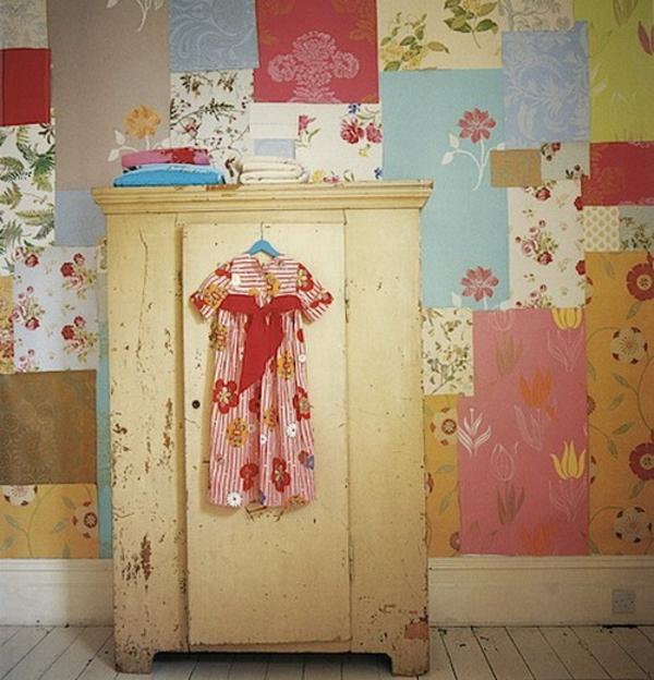 Wanddekoration in patchwork stil in der wohnung for Farben in der wohnung