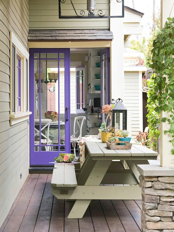 outdoor deko ideen terrasse küche