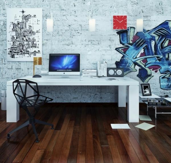 Arbeiten sie von zu Hause aus Interior Design Graffiti