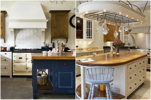 rüstikal dörfisch küche insel design gemütlich gastlich