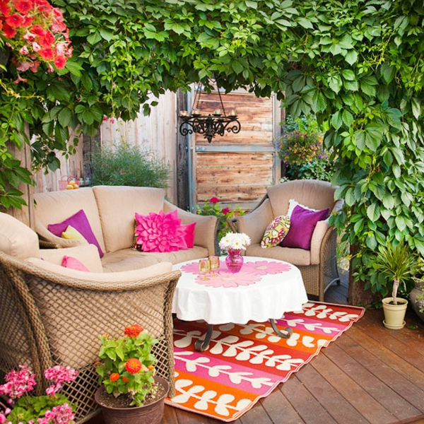 Terrasse-Möbeln Behaglichen Außenwohnraum relaxing patio