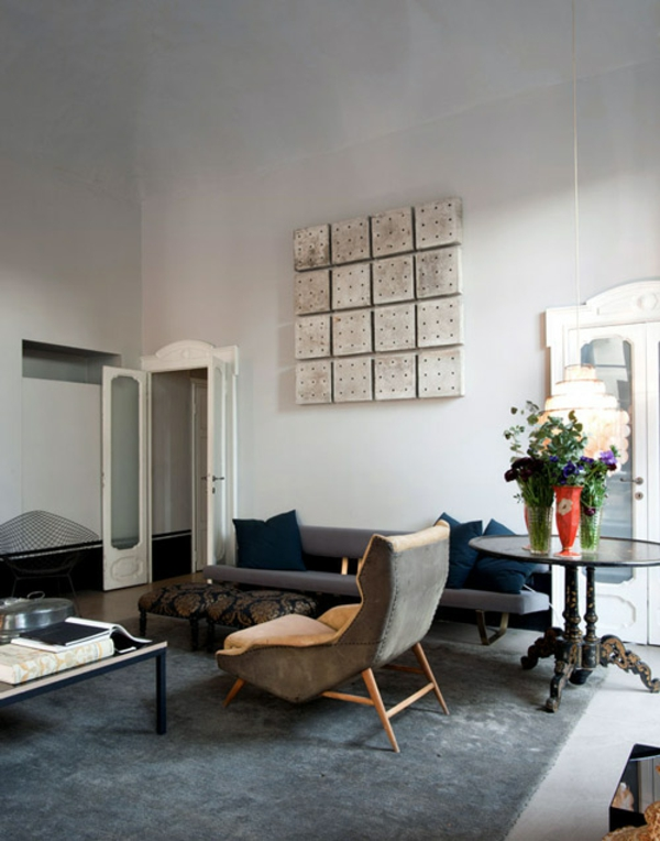 retro stil möbel modernes interieur mischung elektisch