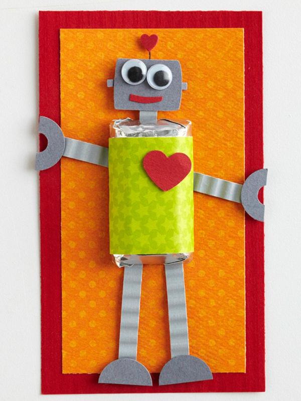 valentinstag lieblingsperson karte roboter