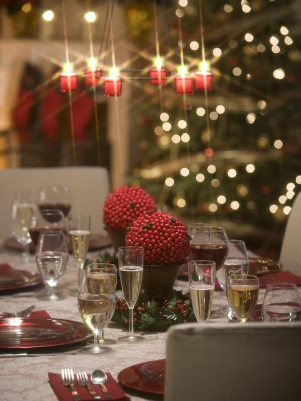 romantisch tischdeko abend idee festlich feier familie