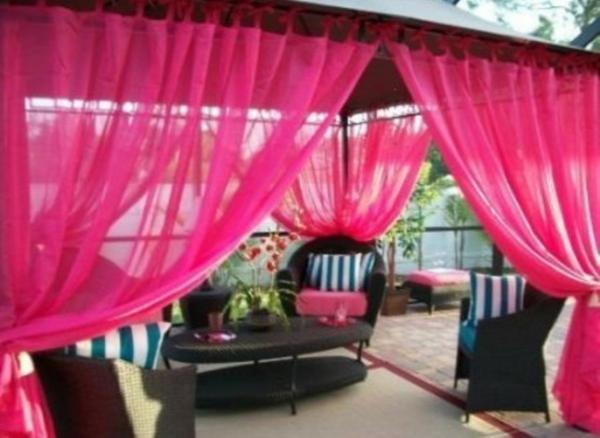 gardinen deko gardinen rosa pastell gardinen. Black Bedroom Furniture Sets. Home Design Ideas