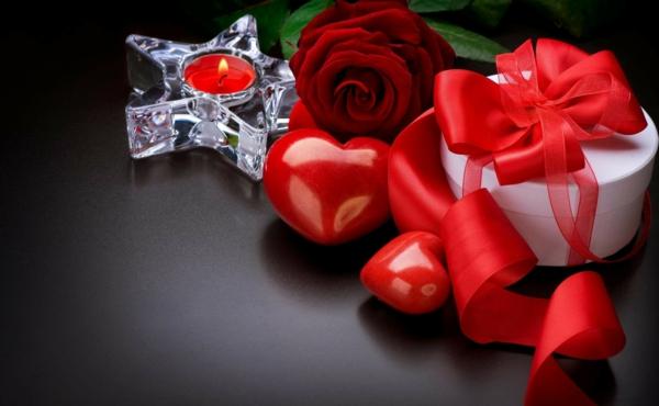 Kerzen Dekoration Ideen Rotfarbig Geschenke