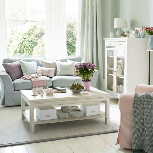wohnzimmer pastellfarben:Interieur in Pastellfarben – wunderschöne Ideen und Vorschläge