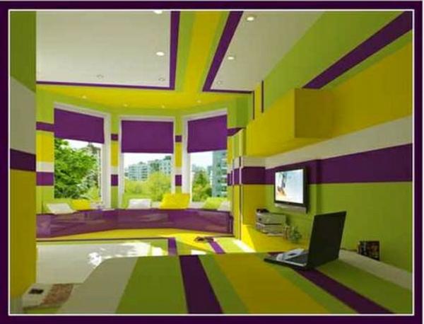 Scharlachrote Und Grüne Interieurs - Bezauberndes Design Zu Hause