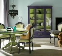 Scharlachrote und gr ne interieurs bezauberndes design zu hause - Grune bodenfliesen ...