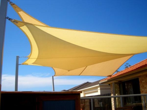 schattensegel idee beige farbe terrasse
