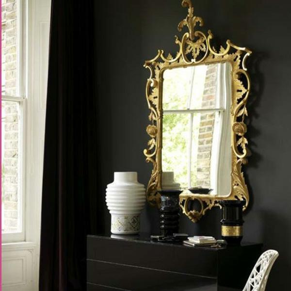 schminktisch motive goldene klassisches interieur idee