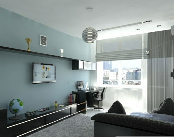 wohnzimmer blau grau braun. Black Bedroom Furniture Sets. Home Design Ideas