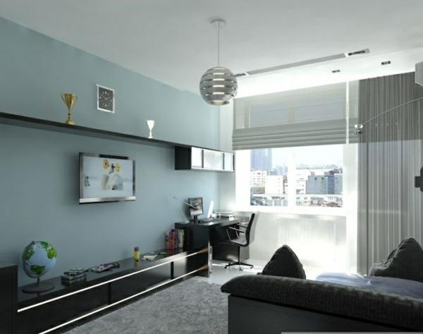 Wohnzimmer blau grau braun  Awesome Wohnzimmer Blau Grau Braun Gallery - House Design Ideas ...