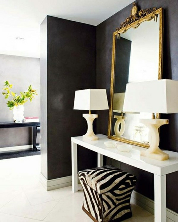 schwarz idee zebra muster interieur wand