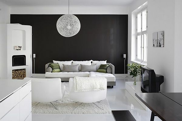 schwarze interieur design ideen inspirierende vorschl ge zu hause. Black Bedroom Furniture Sets. Home Design Ideas