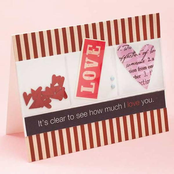 Liebe karte valentinstag idee