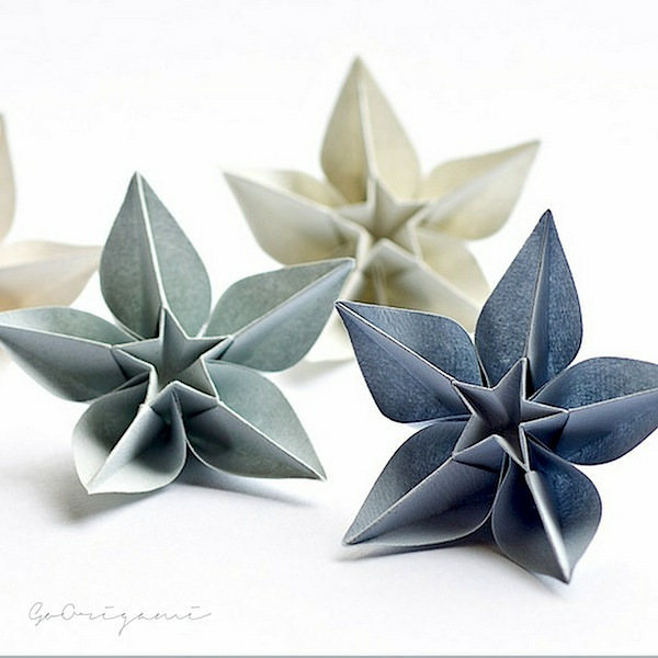Decoration noel origami id es de conception sont int ressan - Decoration noel origami ...