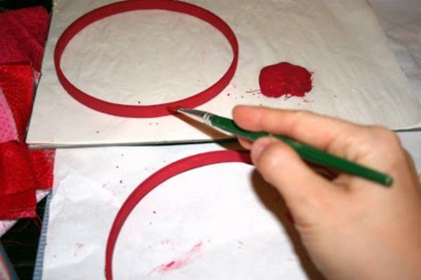 Wanddekoration Valentinstag Idee