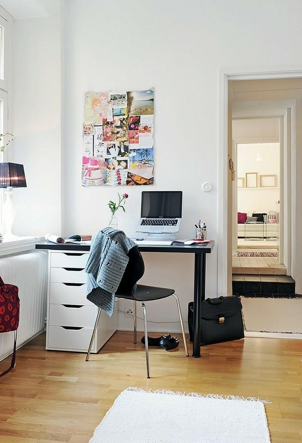 skandinavische schreibtische idee orange farbe haus modern schoen