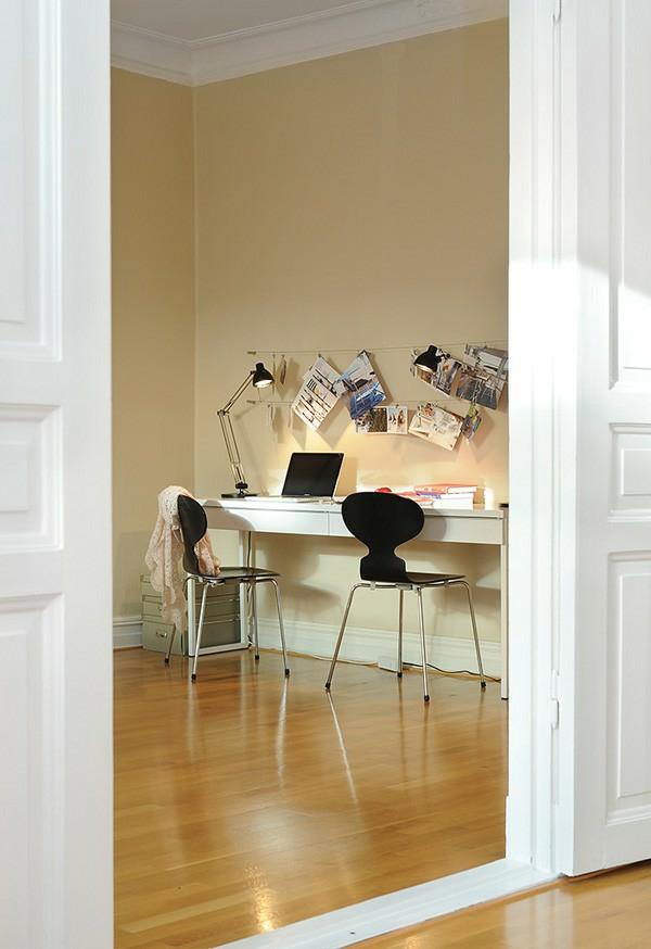 skandinavische schreibtische farbe haus modern schwarz deko