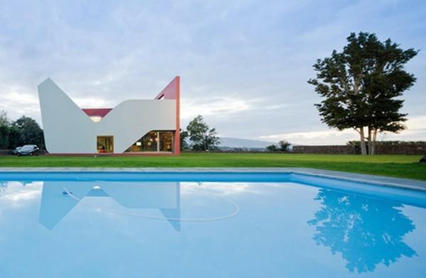 spektakulaer idee wasser pool design outdoor schwimmbecken