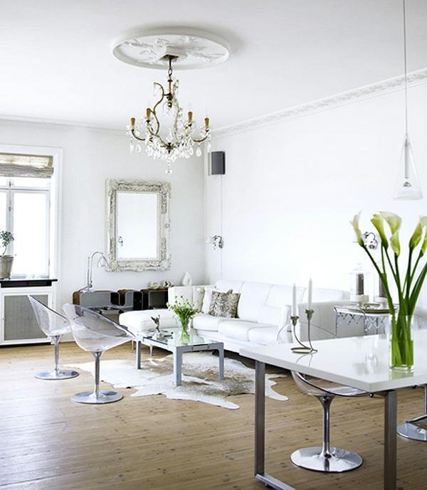 stilvoll weisse interieurs idee design inspirieren modern