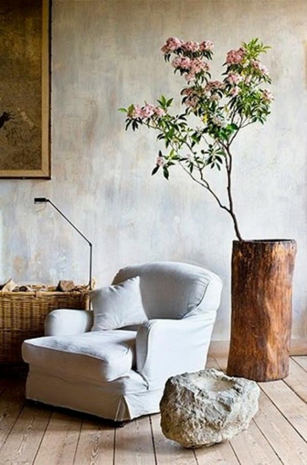... Deko Ideen Aus Baumstumpf – Tolles Blumentopf dekoideen wohnzimmer