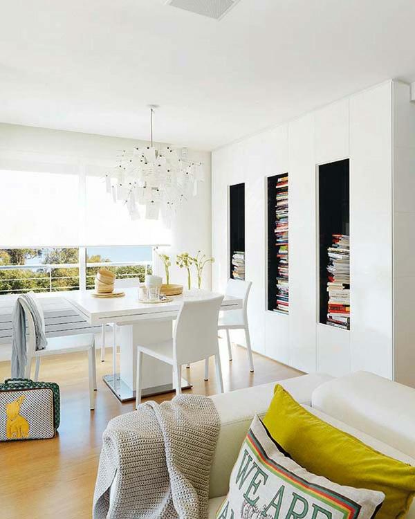 stylish weisse interieurs idee design esszimmer modern